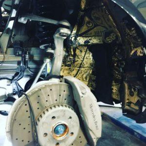 Шумоизоляция арок и подкрылков Mercedes E213