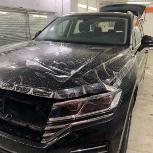 Бронирование кузова и лобового стекла пленкой VW Touareg 2020